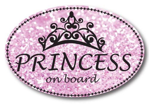 Princess On Board Oval Car Magnet Heavy Duty ()