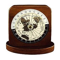 Woodessen, Paper Weight - Walnut, Solid Wood, World Time Zones.