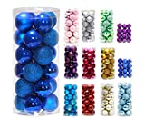 Christmas Decoration-24ct Ornaments Ball Multicolor Christmas Tree Balls for Holiday Wedding Party Decoration,2.36'',Dark Blue
