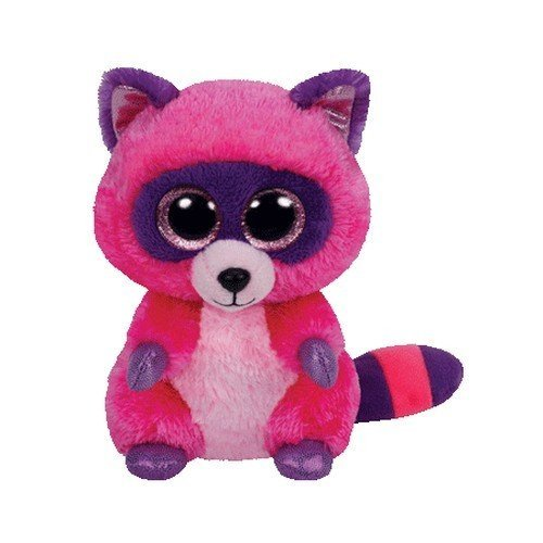 Ty Beanie Boos Roxie The Pink/Purple Raccoon Plush