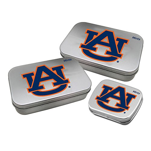 - Worthy Promotional NCAA Auburn Tigers Decorative Mint Tin 3-Pack with Sugar-Free Mini Peppermint Candies