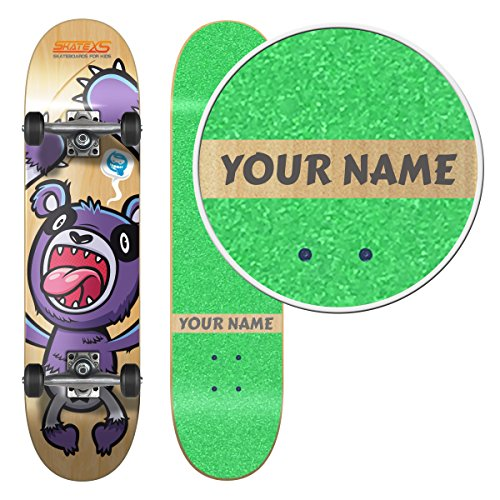 (SkateXS Personalized Beginner Panda Street Kids Skateboard)