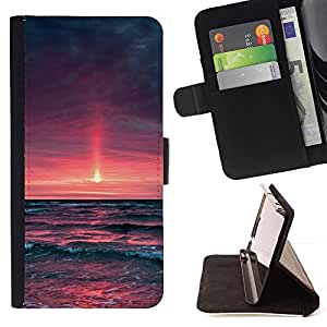 Momo Phone Case / Flip Funda de Cuero Case Cover - Purple Sunset Glow;;;;;;;; - Sony Xperia M2