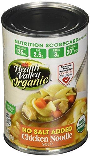 Healthy Valley Chicken Noodle Soup No Salt 15 Oz (Pack of 12) - Pack Of 12 (Chicken Valley Health)