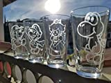 Cheap Super Mario Pint Glass Set Mario Peach Yoshi Luigi