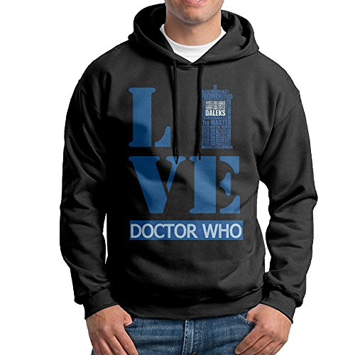 [IcyHot Men's Hooded Doctor Science-fiction Television Who Size XXL Black] (Doctor Barbie Costume)