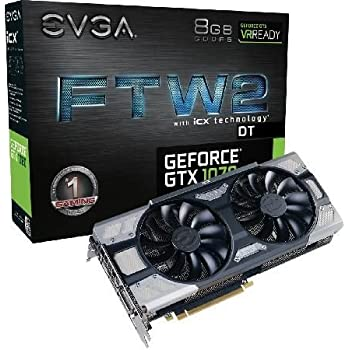 Amazon.com: EVGA NVIDIA GeForce GTX 1070 ftw2 DT Gaming 8 GB ...