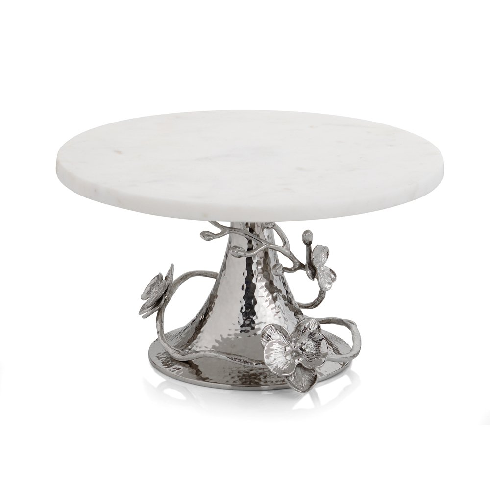 Michael Aram 111861 Orchid Cake Stand, Silver