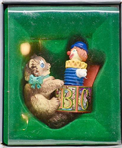 1987 - Enesco Giftware - Kitty's Jack-In-The-Box Christmas Ornament- Collectible - Rare