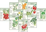 """Botanical Interests""""Organic Veggies"""" Seed Collection - 10 Packets with Gift Box"""