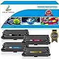 True Image 4 Packs High Yield CF360X CF361X CF362X CF363X for HP Color Laserjet Enterprise M553DN Toner HP 508X 508A CF360X CF360 Toner HP Color Laserjet M553X M553N M553 M577 M552DN Toner (KCMY)