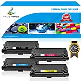 True Image 4 Packs High Yield CF360X CF361X CF362X CF363X for HP Color Laserjet Enterprise M553DN Toner HP 508X 508A CF360X CF360 Toner HP Color Laserjet M553X M553N M553 M577 M552DN Toner (KCMY)