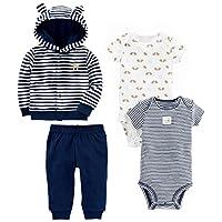 Simple Joys by Carter's Boys Baby 4-Piece Terry Cardigan Set, Navy Bear, 0-3 ...