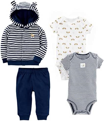 Simple Joys by Carter's Baby Boys' 4-Piece Terry Cardigan Set