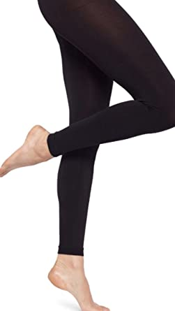 9c0298e3ced0c Pretty Legs Adult Black Footless Dance Tights (Large): Amazon.co.uk:  Clothing