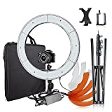 Selens 18 inches/48 cm Outer Dimmable LED Ring Light with Stand, mount for DSLR Camera Smartphone Ipad, Photo Video Lighting Kit for Photography, Self-Portrait Video Shooting, Youtube