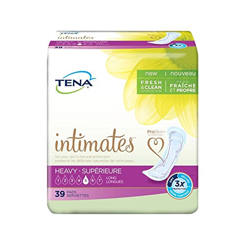 Tena Intimates Pads Long, Heavy Absorbency,39 count ()