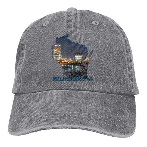 Milwaukee City Cowboy Cap Unisex Adjustable Snapback Baseball