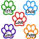 500pcs Paw Name Tags Plain Name Tag Labels Stickers, 1 Roll, 5 Colors