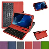 TAB A 10.1 2016 Wireless Keyboard Case,Mama Mouth Coustom Design Slim Stand PU Leather Cover with Romovable Wireless Keyboard for Samsung Galaxy TAB A 10.1 T580 T585 Android Tablet 2016,Red