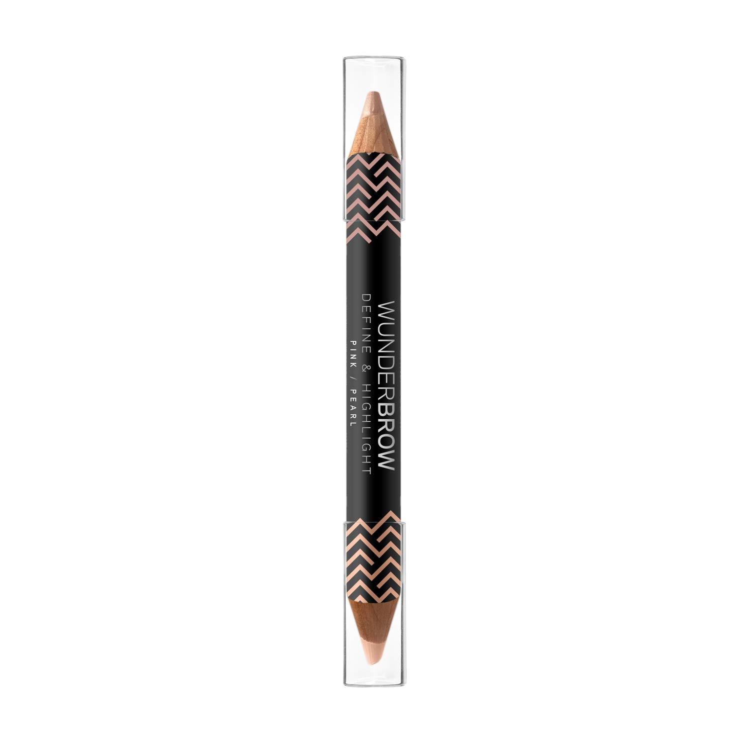 WUNDER2 Wunderbrow Define and Highlight- A Long Lasting and Waterproof Dual Ended Pencil that Highlights and Illuminates the Brow Bones, Pink-Pearl