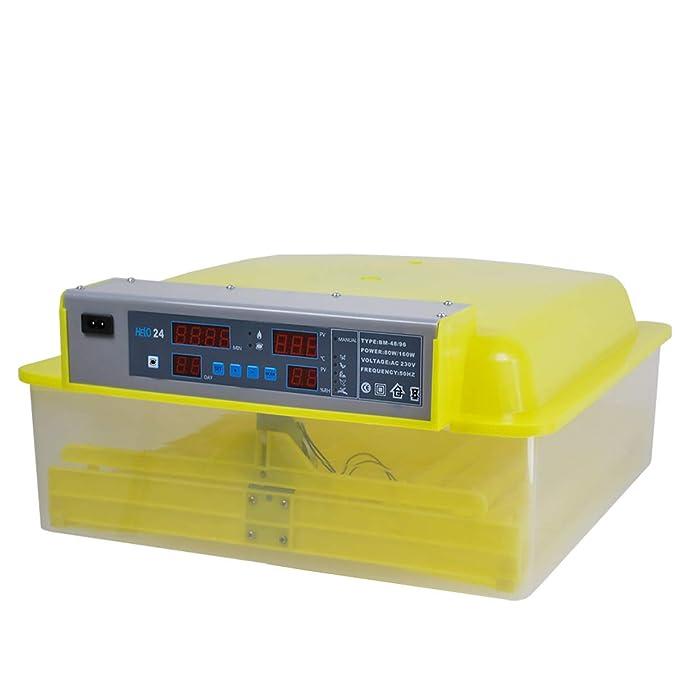 mit automatischer Wendefunktion w/ählbar f/ür 48 oder 96 Eier Helo BM-Serie Brutmaschinen L/üfter und Hygrometer mit Luftfeuchtigkeitalarm Temperaturregelung Hoch- und Niedertemperaturalarm