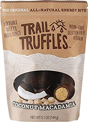 Trail Truffles Gluten Free Sport Energy Bites with Dates - Healthy Vegan Hiking and Camping Snack Food