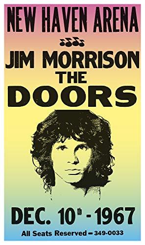 "Jim Morrison - The Doors - New Haven Arena Connecticut 13""x22"" Vintage Style Showprint Poster - Concert Bill - Home Nostalgia Decor Wall Art Print"
