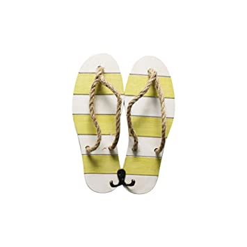 f45923bca25694 Image Unavailable. Image not available for. Color  Asien Flip Flop Wood  Hook Home Decoration ...