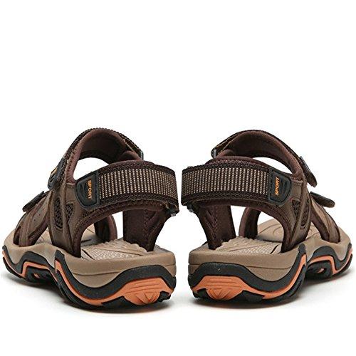 0 Wagsiyi Spiaggia 3 spiaggia Marrone Marroni Bastone Uomo Magico 27 Sandali Scarpa pantofole All'aria EU 5 Aperta Traspirante 1 brown Colore 39 CM Scarpe Dimensione Sport Light 24 Sandalo Da da ZnxZvf