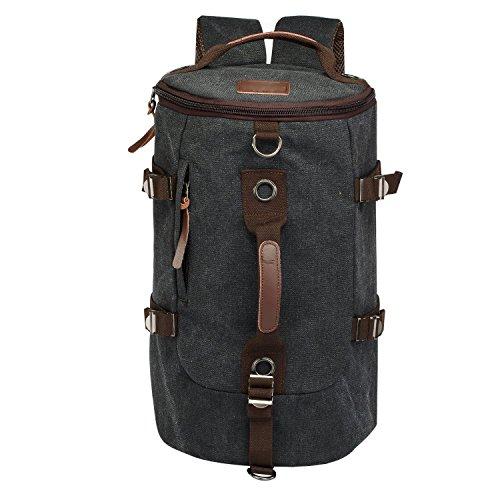 LUXUR-Retro-Duffel-30L-Cylinder-Bag-Canvas-Travel-Backpack-Hiking-Shoulder-Handbag