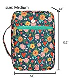 Bible Cover, Canvas Book Cover Case with Floral