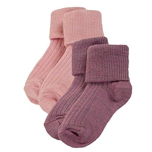 Baby Merino Wool (Janus Merino Wool Baby Toddler 2-Pack Socks. Made in Norway. (Lilac, EU 18-19 (12-24 Months)))