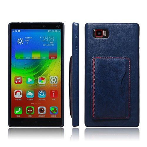 Ultra Slim Flip Bracket Case for Lenovo Vibe Z2 Pro K920, Premium Soft PU Leather [ Wallet ] Case Cover for Lenovo Vibe Z2 Pro K920 (Bracket - Blue)