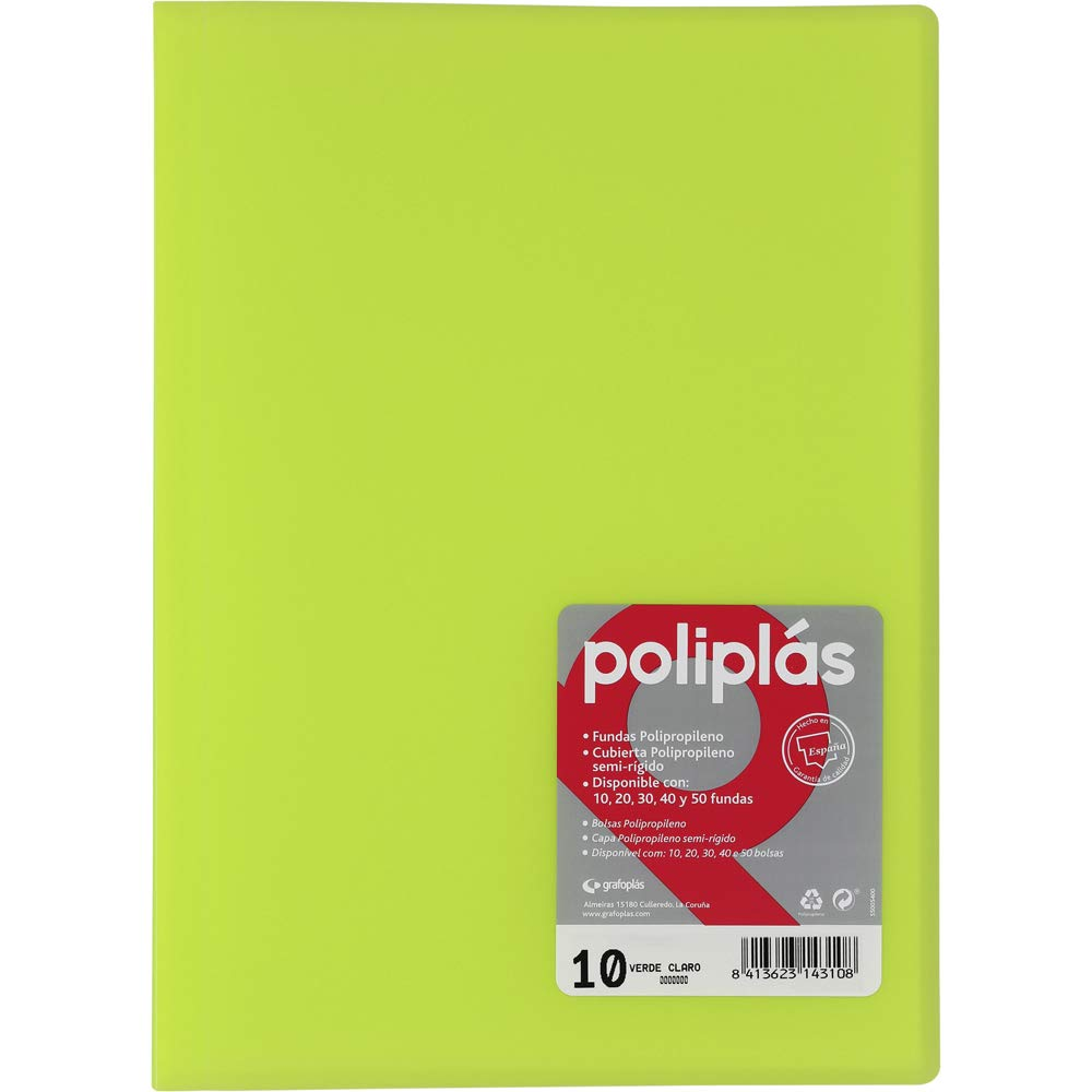 Amazon.com : grafoplas - Folder Foolscap, Tapas, PP poliplás ...