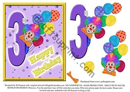 10# payasadas - feliz cumpleaños - 3 años por Di Simpson ...
