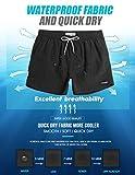 "MaaMgic Mens 5"" Solid Short Swim Trunks with Mesh"