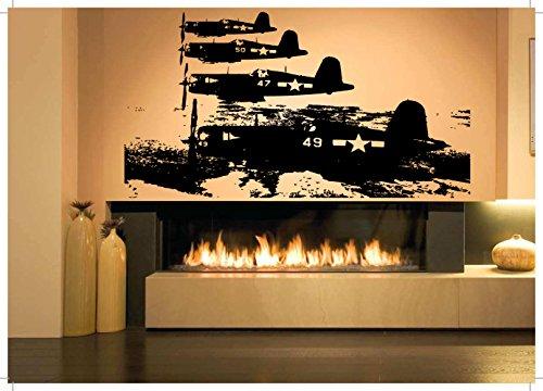 (Wall Room Decor Art Vinyl Sticker Mural Decal Ww2 Plane Jet Fighter Big AS1428)