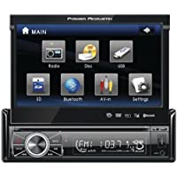 POWER ACOUSTIK PTID-8920B 7 Single-DIN In-Dash Motorized Touchscreen LCD DVD Receiver with Detachable Face (With Bluetooth(R))