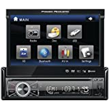 POWER ACOUSTIK PTID-8920B 7'' Single-DIN In-Dash Motorized Touchscreen LCD DVD Receiver with Detachable Face (With Bluetooth(R))