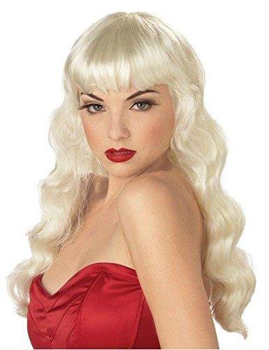 Pin Up Girl Blonde Wig (Blonde Pin-Up Girl Wig)