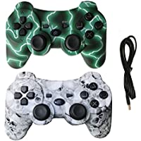 H3 GRUP 2 Pack Wireless Dual Vibration Controller for...