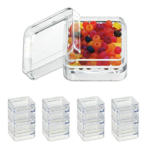 Generic YanHong-US3-151019-134 8yh2251yh acks & Nests Acrylic Bead Stacks & N 12pc 12pc Clea Display Box splay Box Clear crylic Be Containers - Stacks & Nests by Generic