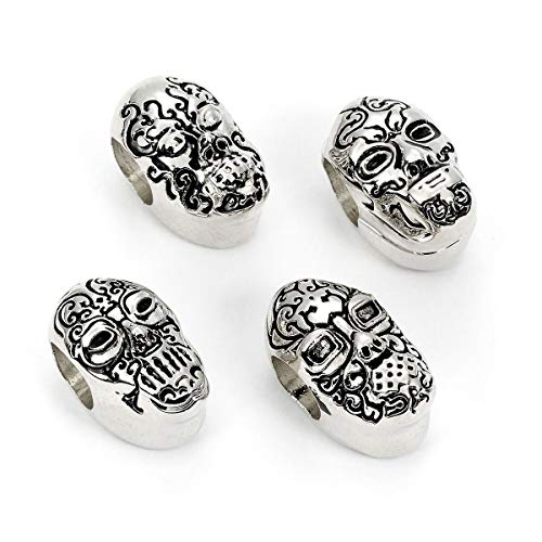 The Carat Shop Death Eater Masks - Set of 4 Spacer Beads