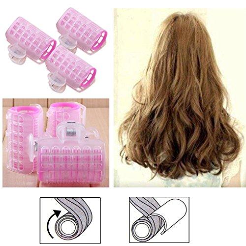 Binmer(TM) 3 Pcs Hairdress Magic Bendy Hair Styling Roller Curler Spiral Curls DIY Tools LW (A-large)