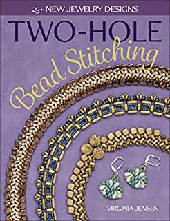 Book Cover: Two-Hole Bead Stitching: 25  new jewelry designs