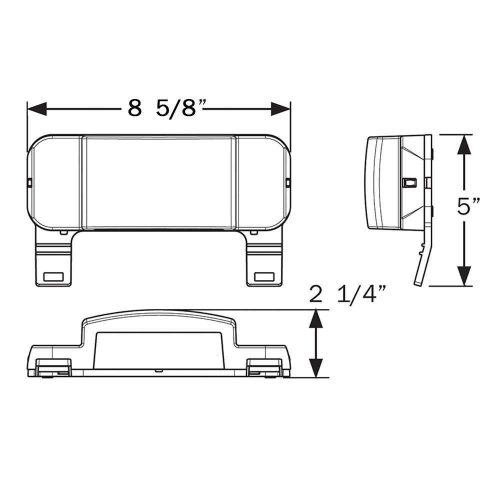 Optronics One Led Low Profile Combination Rv Tail Lights Trailer Light Wiring Diagram Rvstlb6061 Kit Pair