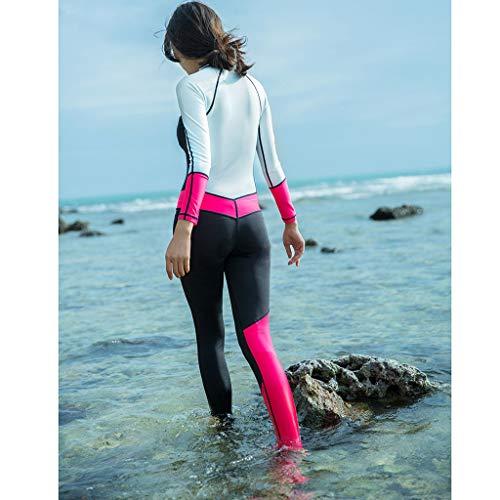 YEZIJIN Women 0.5mm Neoprene Long Sleeve Diving Wetsuit Spearfishing Suit Swimwear Wetsuit top Long/Short Sleeve Sky Blue by Yezijin_Swimsuit (Image #1)