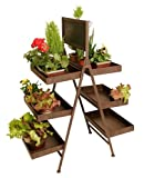 Wald FL5018 Six Shelf Folding Metal Display With Chalkboard