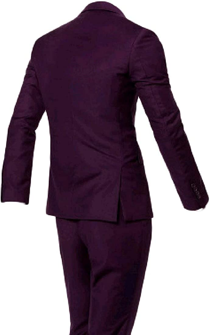 Nicelly Mens Bridal Set 3-Piece Britain Oversize Suit Jacket Blazer